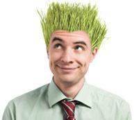 man_goofy_grass